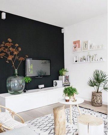 Een zwarte muur is een statement in huis | Mrwoon