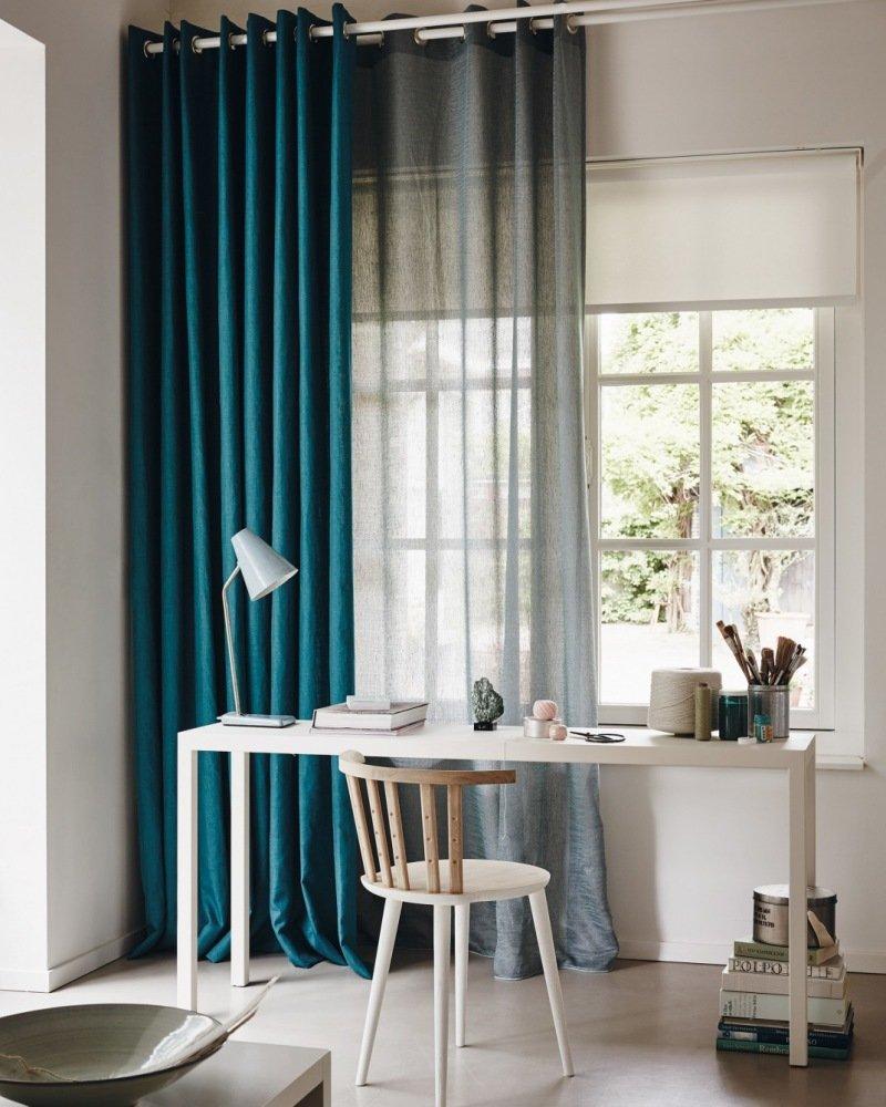 laden raam blauw