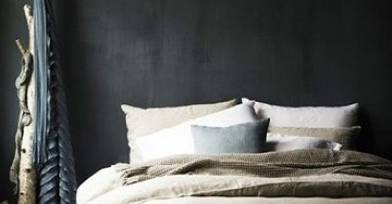 Slaapkamer Zwarte Muren : Een zwarte muur is een statement in huis mrwoon