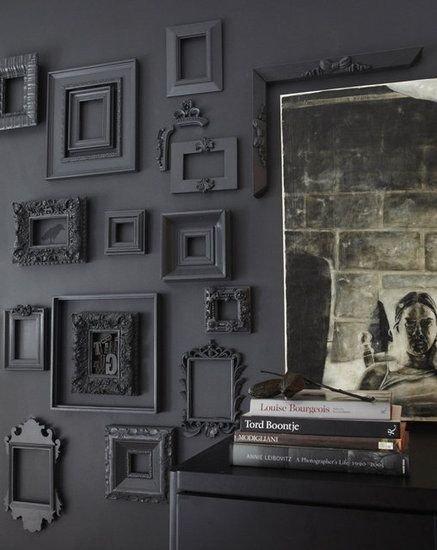 bijzondere wanddecoratie collage van fotolijstjes mrwoon